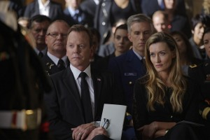 "DESIGNATED SURVIVOR - ""The Confession"" (ABC/Ben Mark Holzberg) KIEFER SUTHERLAND, NATASCHA MCELHONE"